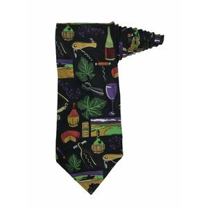 Ralph Marlin RM Style Wine Collage Novelty Tie